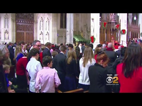 St. Patrick's Cathedral Packed For Midnight Mass
