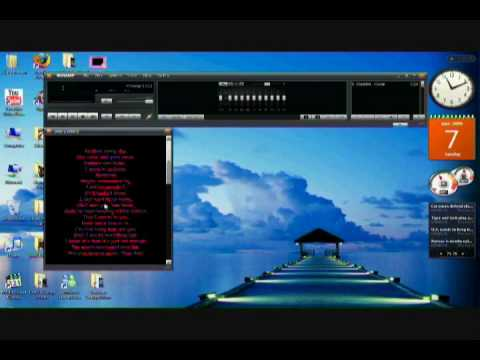 How to insert lyrics into Winamp Player