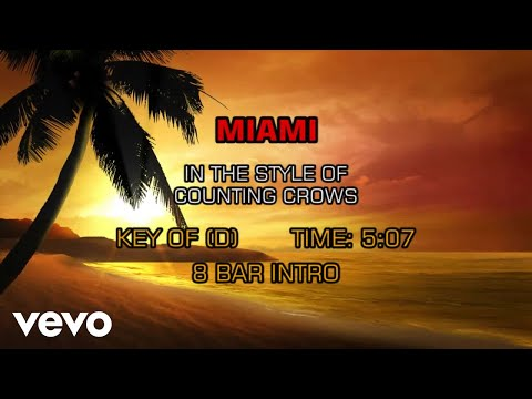 Counting Crows - Miami (Karaoke)