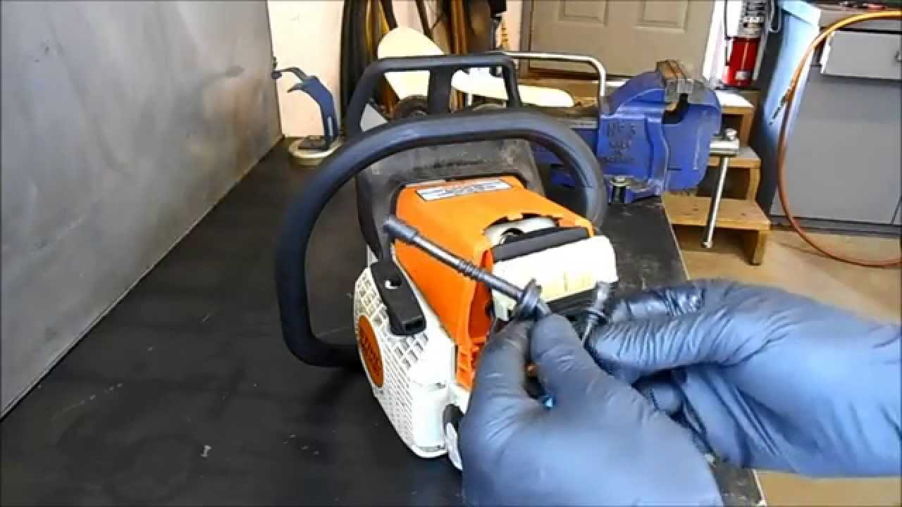 Replacing a Fuel Line on a Stihl MS210230 and 250 Chain