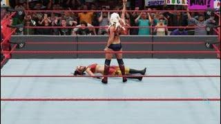 WWE 2K18 WWE Universe Mode Raw Alexa Bliss attacks Bayley and Nia Jax