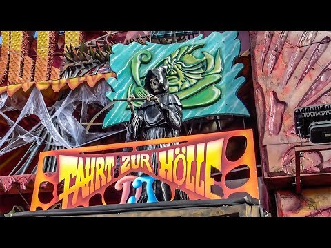 Fart Hole Dark Ride Complete POV! Oktoberfest Germany - Traveling Fair Haunted House Attraction