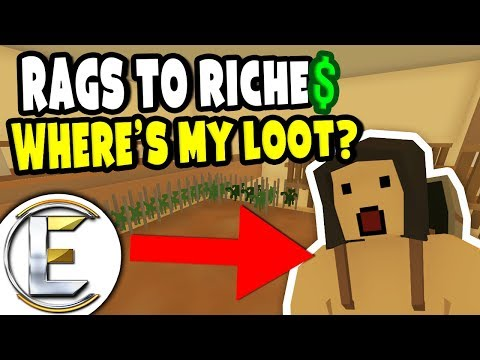 Where's My Loot? | Unturned Roleplay Survival (Rags to Riches Reboot #32) Server Wipe Day (RP)