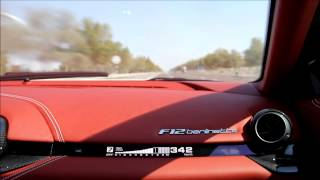 Ferrari F12 Berlinetta TopSpeed 350km/h on Abu Dhabi Highway