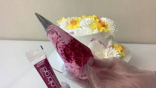 Торт Весенний с СИРЕНЬЮ Цветы из БЕЛКОВОГО Крема Красивый торт