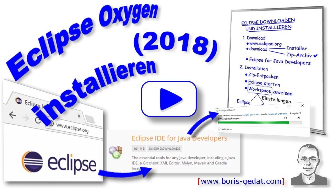 Eclipse installieren - deutsch (Java | 2018)
