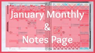 Plan With Me! January Monthly & Notes Page FREE printable | BeaYOUtiful Planning