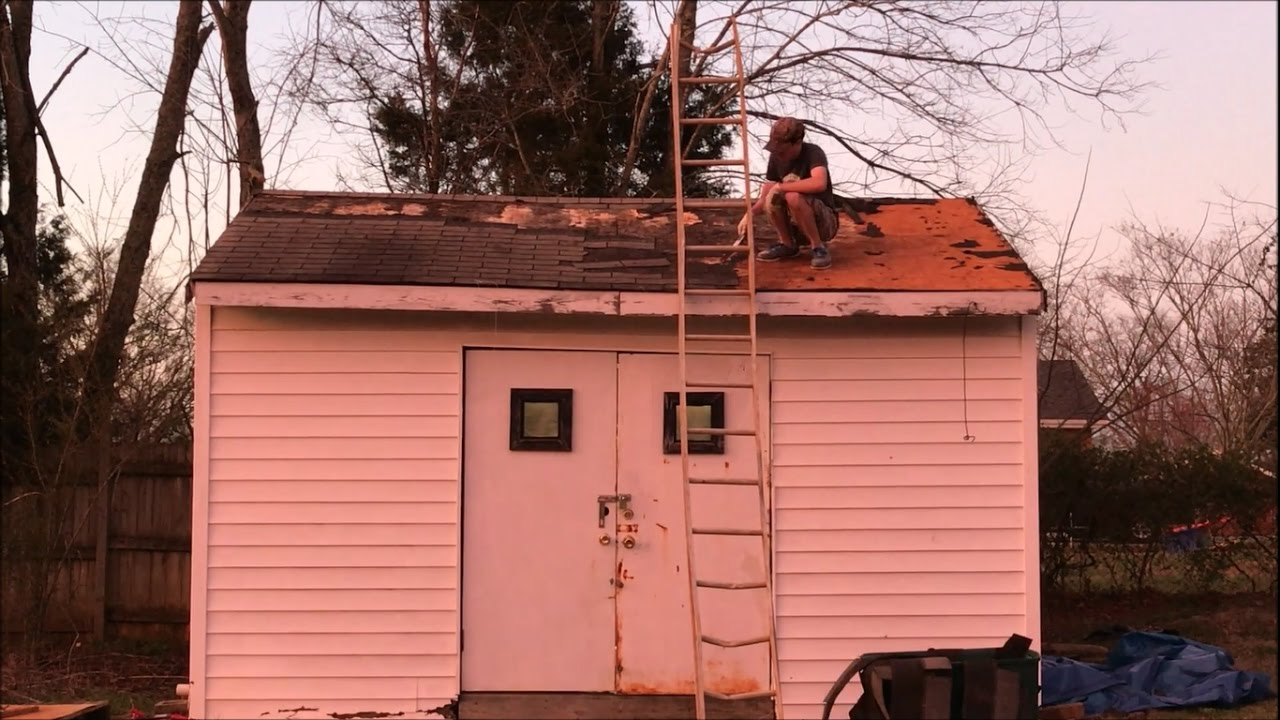How To Repair A Shed Roof Day 1 Youtube
