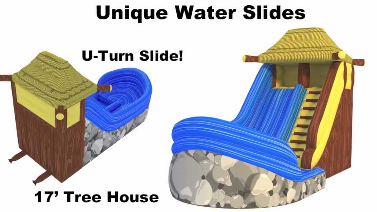 water slides rental rent inflatable waterslides backyard water