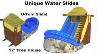 Water Slides Rental, Rent Inflatable Waterslides, Backyard Water Slides