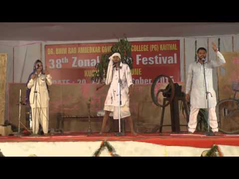 Dr. BRA Govt College Kaithal  Haryanvi Skit at Youth FESTIVAL 2015