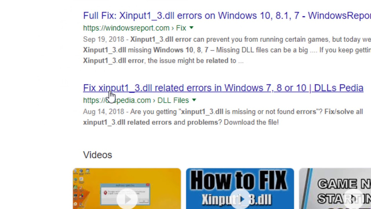 Fix xinput1_3 dll related errors in Windows 7, 8 or 10