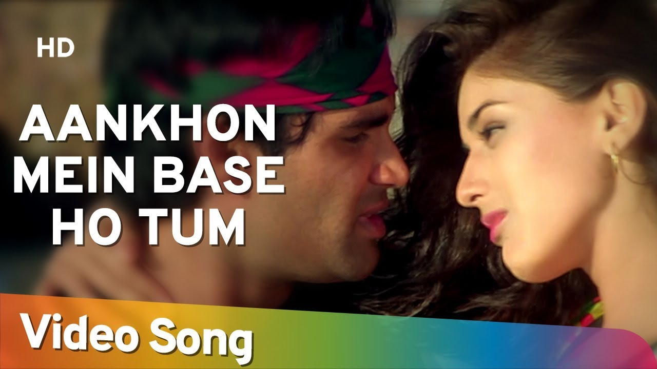Aankhon Mein Base Ho Tum (Duet) - Sunil Shetty - Sonali Bendre - Takkar - Bollywood Songs - Abhijeet #1