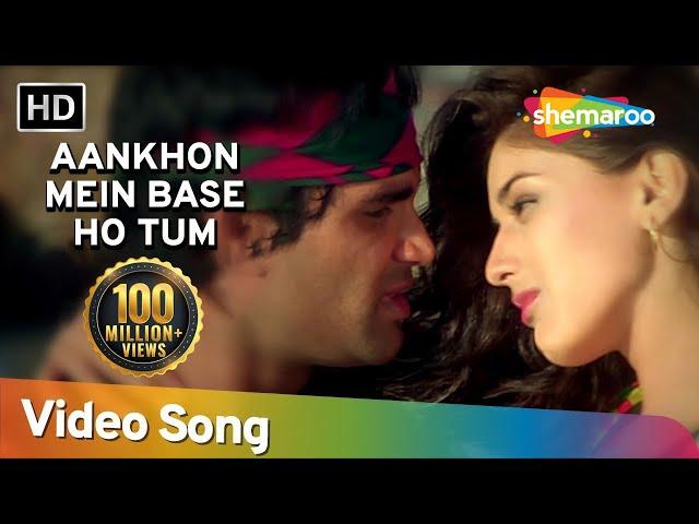 Aankhon Mein Base Ho Tum (Duet)   Sunil Shetty   Sonali Bendre   Takkar   Bollywood Songs   Abhijeet