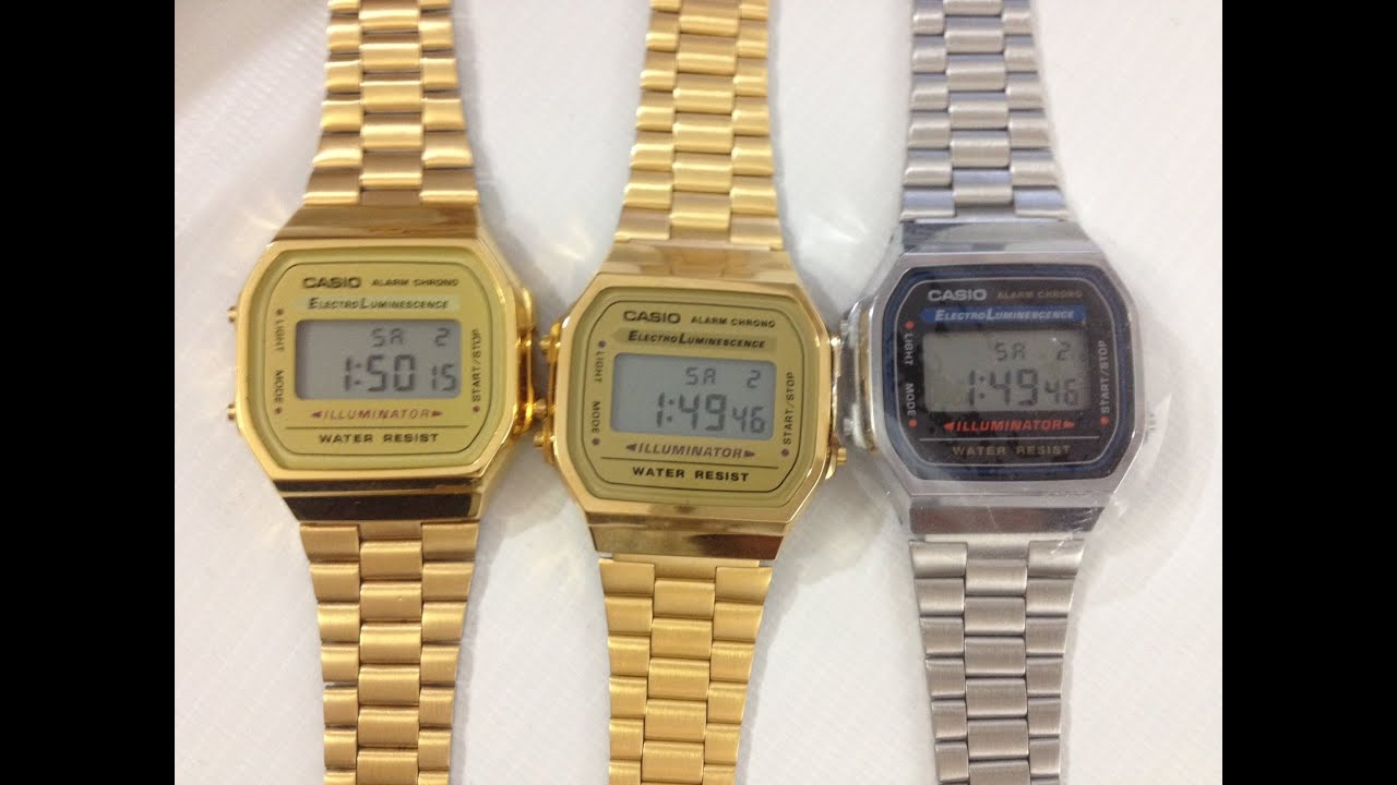 2415ff72dbd2 Casio Gold Watch A168WG-9 - REAL vs FAKE - YouTube