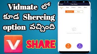 vidmate sharing option coming How to use sharing option