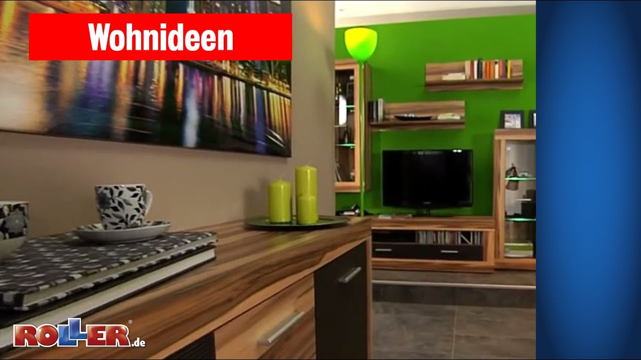 wohnzimmer mit guten ideen sch n und modern einrichten roller wohnideen youtube. Black Bedroom Furniture Sets. Home Design Ideas