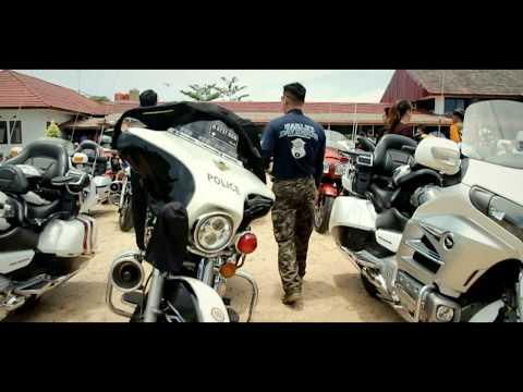 Aksi Biker Motor Besar Club (MBC) Indonesia Membelah Jalanan Kabupaten Bangka Selatan