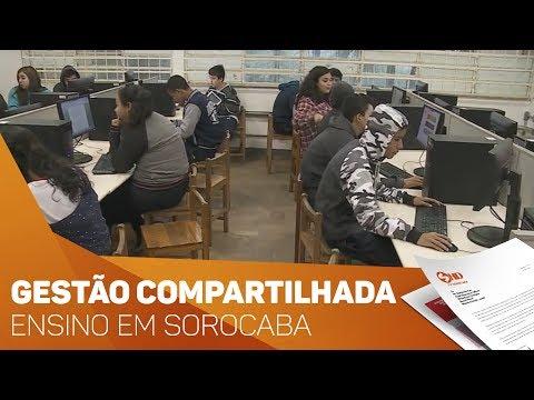Gestão compartilhada em escolas de Sorocaba - TV SOROCABA/SBT