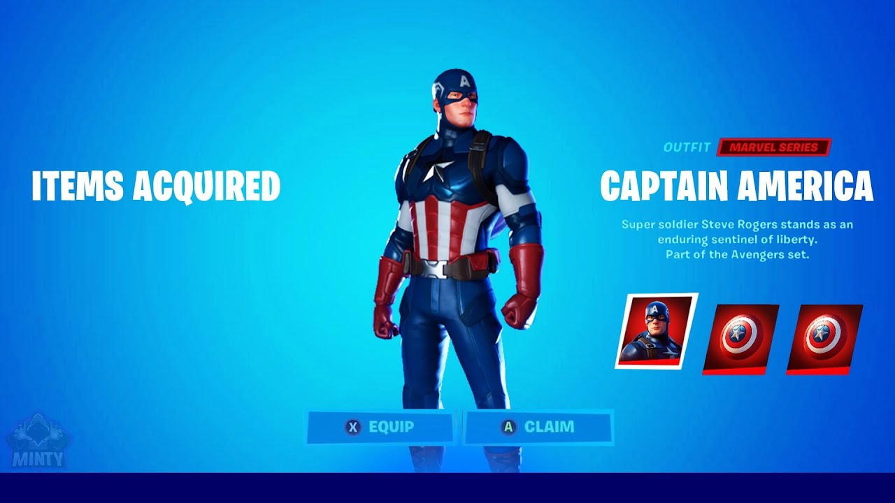 How To Get The *CAPTAIN AMERICA* SKIN In FORTNITE For FREE!