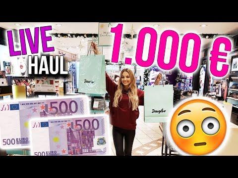 LIVE HAUL 😱 Ich darf nachts für 1.000 EURO ALLEINE SHOPPEN  | XLAETA