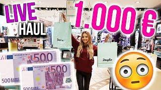 LIVE HAUL 😱 FÜR 1000 EURO BEI DOUGLAS SHOPPEN + ihr gewinnt alles ❤  | XLAETA