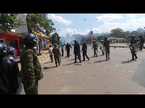 15 CORD supporters arrested as police disperse anti IEBC demo