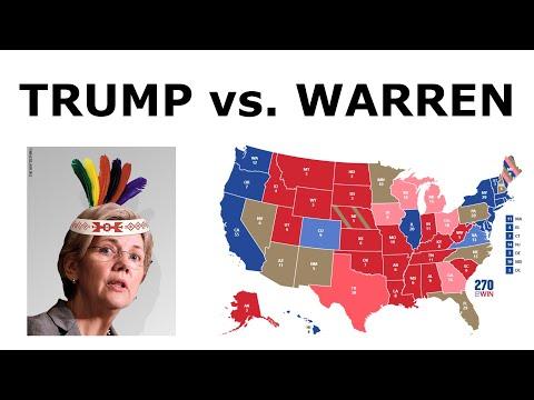 TRUMP vs. WARREN! - 2020 Election Prediction (Jan. 2020)