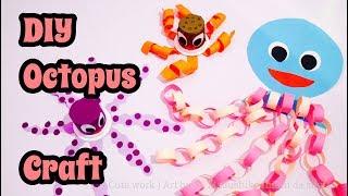 DIY Octopus , Paper Craft For Kids ( Easy Handwork Crafts Idea )