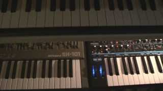 Novation Bass Station II & Roland SH 101