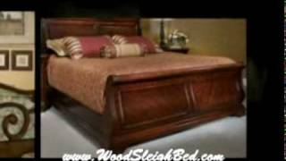 The Wood Sleigh Bed - Comes In Many Styles