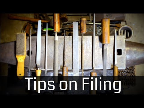 Tips on Filing for Blacksmiths // Metal Filing Techniques