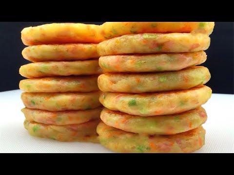 用土豆做的早餐饼实在香,不加一滴水,营养解馋,简单快手