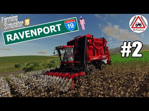 RAVENPORT, #2, PS4, Farming Simulator 19, Cotton Contract. Let's Play.