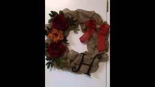Fall Burlap Wreath Thumbnail