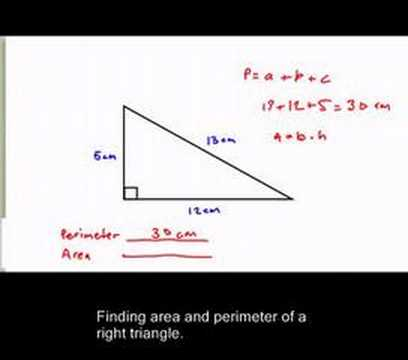 Perimeter and area of a triangle youtube perimeter and area of a triangle ccuart Gallery