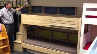 Be Bop Bunk Beds - Rainbow Wood