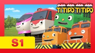 Titipo S1 episodes Compilation l EP 1-6 (66 mins) l Train shows for kids l Titipo TItipo