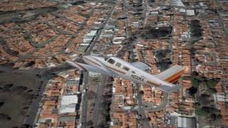 FSX - Carenado Seneca - PA34-200T landing at Jundiaí SDJD