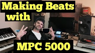 Akai MPC 5000 - How to Build a DrumKit, Sample, and Make a Quick Beat