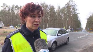 Śmiertelny wypadek na trasie Nowa Sól  - Nowe Miasteczko.  Sprawca pod wpływem alkoholu