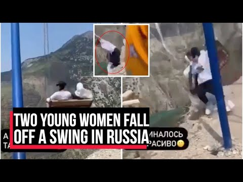 Terrifying moment two women fall off swing on the edge of 6000ft cliff when chain snaps | Cobrapost