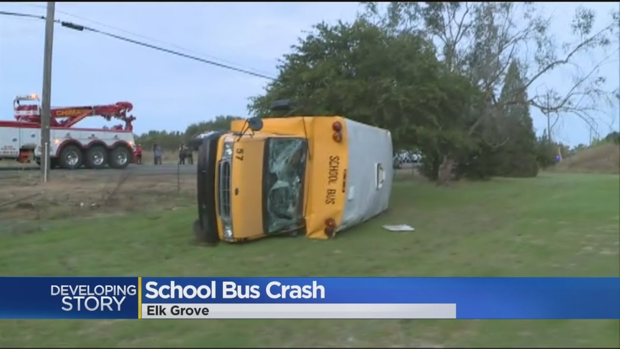 3 Students Hurt In Elk Grove School Bus Crash
