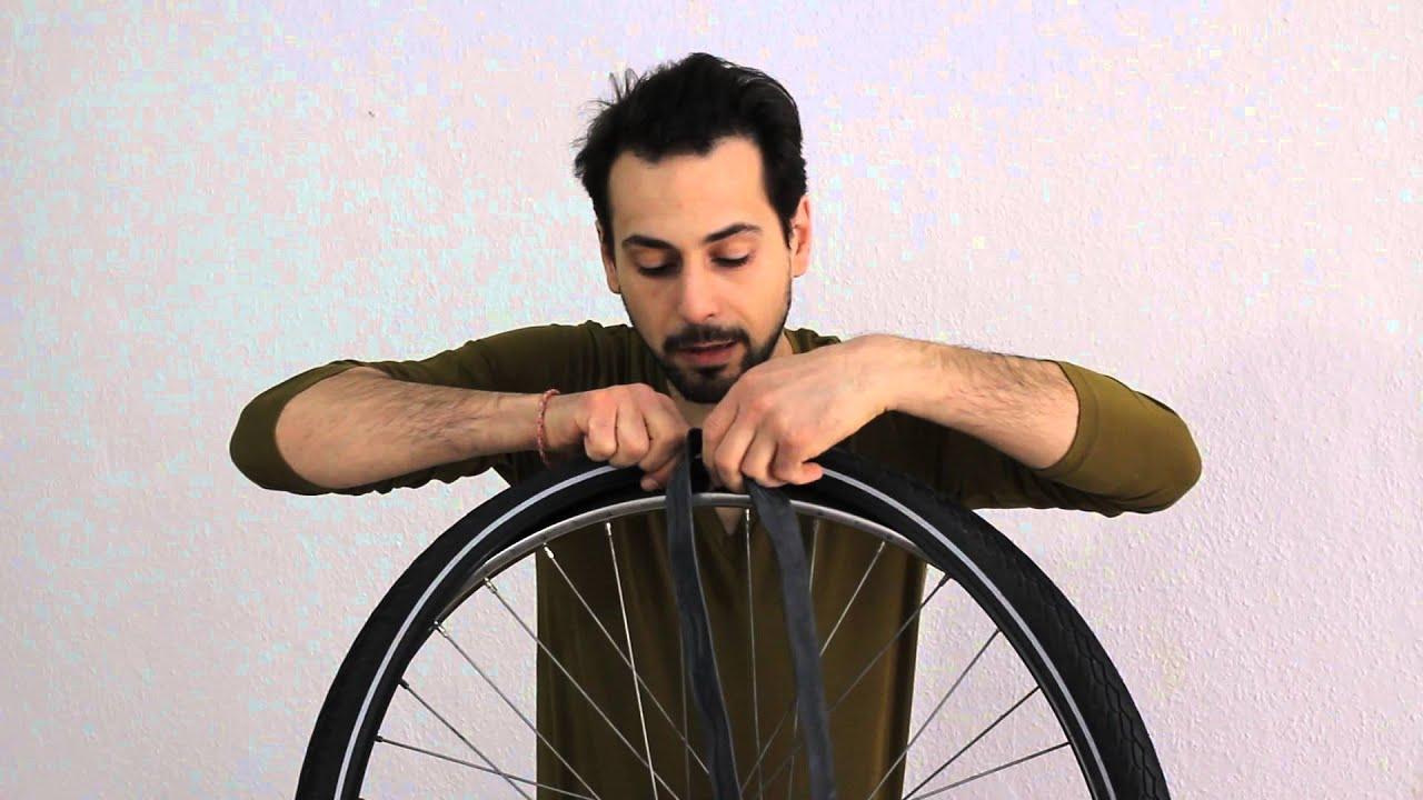 Wie mache ich einen Schlauchwechsel, Fahrrad, Hollandrad