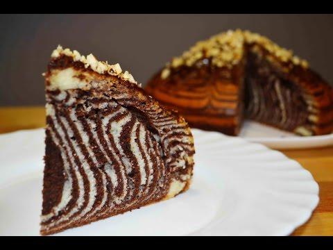 ПИРОГ ЗЕБРА или Как Приготовить Пирог (Кекс) Зебра! Cake Zebra