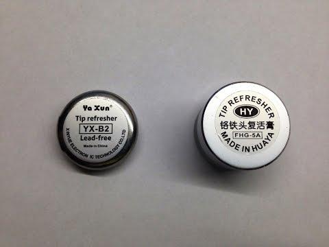 Восстановители жал из Китая, сравнение двух образцов. Tip Refresher Test