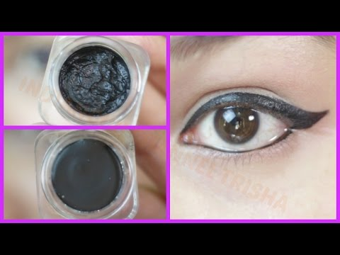 How to make kajal or gel liner at home- Smudge Free, Waterproof, Long Lasting, Dark Black
