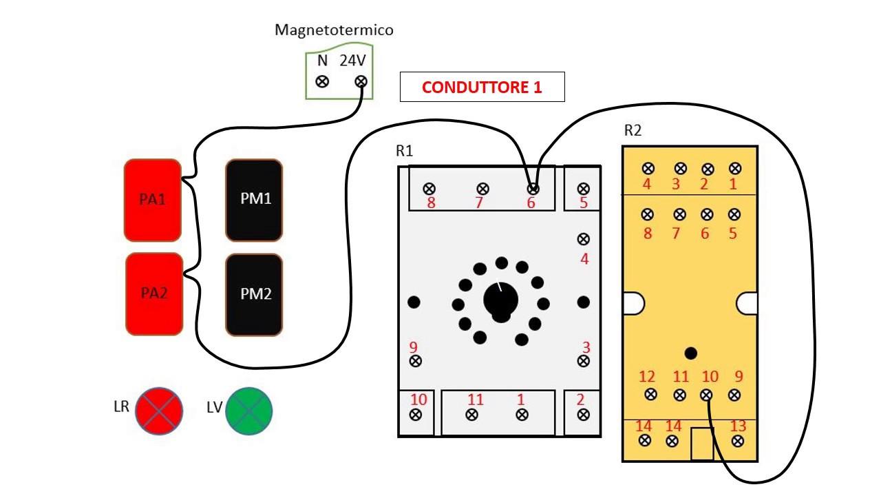 Finder rele schemi elettrici rel passo come funziona e for Teleruttore schema