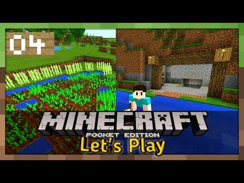 FARMING/MINING- Survival Let's Play Ep- #04- Minecraft PE