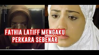 Fathia Latiff  MENGAKU dirinya dalam video Bigo